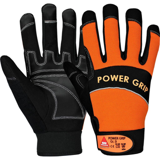 POWER GRIP schwarz/orange, 5-Fg.-Handschuhe Neoprene, - HASE - 402000