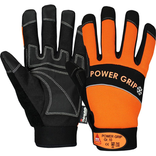 POWER GRIP WINTER schwarz/orange, 5-Fg.-Handschuhe Neoprene, - HASE - 402050