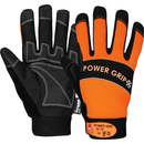 POWER GRIP WINTER schwarz/orange, 5-Fg.-Handschuhe...
