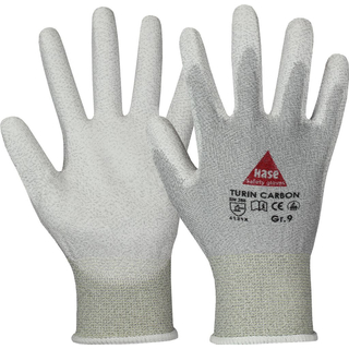 TURIN CARBON Antistatic Nylon/Carbon-Strickhandschuh mit - HASE - 508230