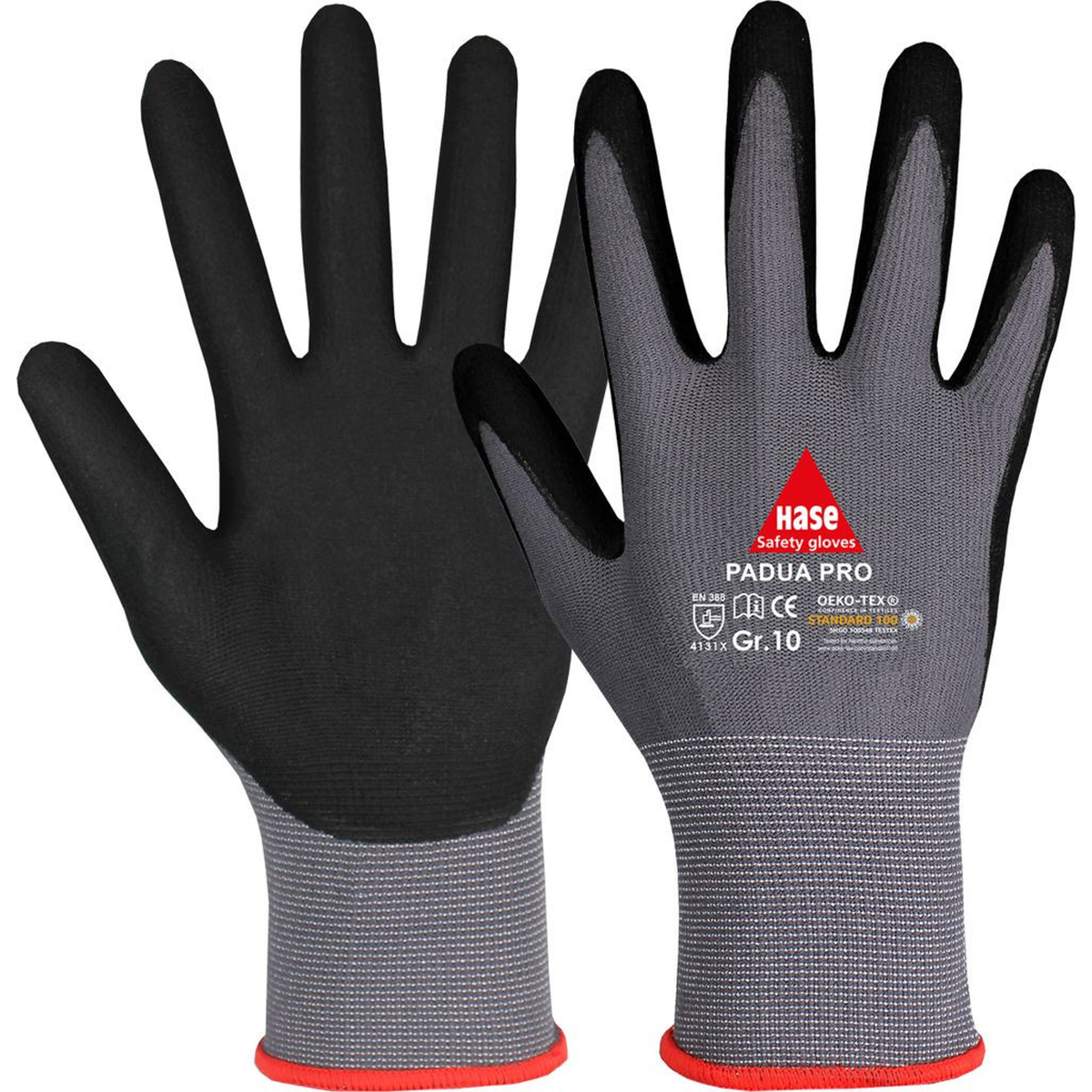Handschuhe aus Polyamid//grauer Nitrilschaum  1 Paar