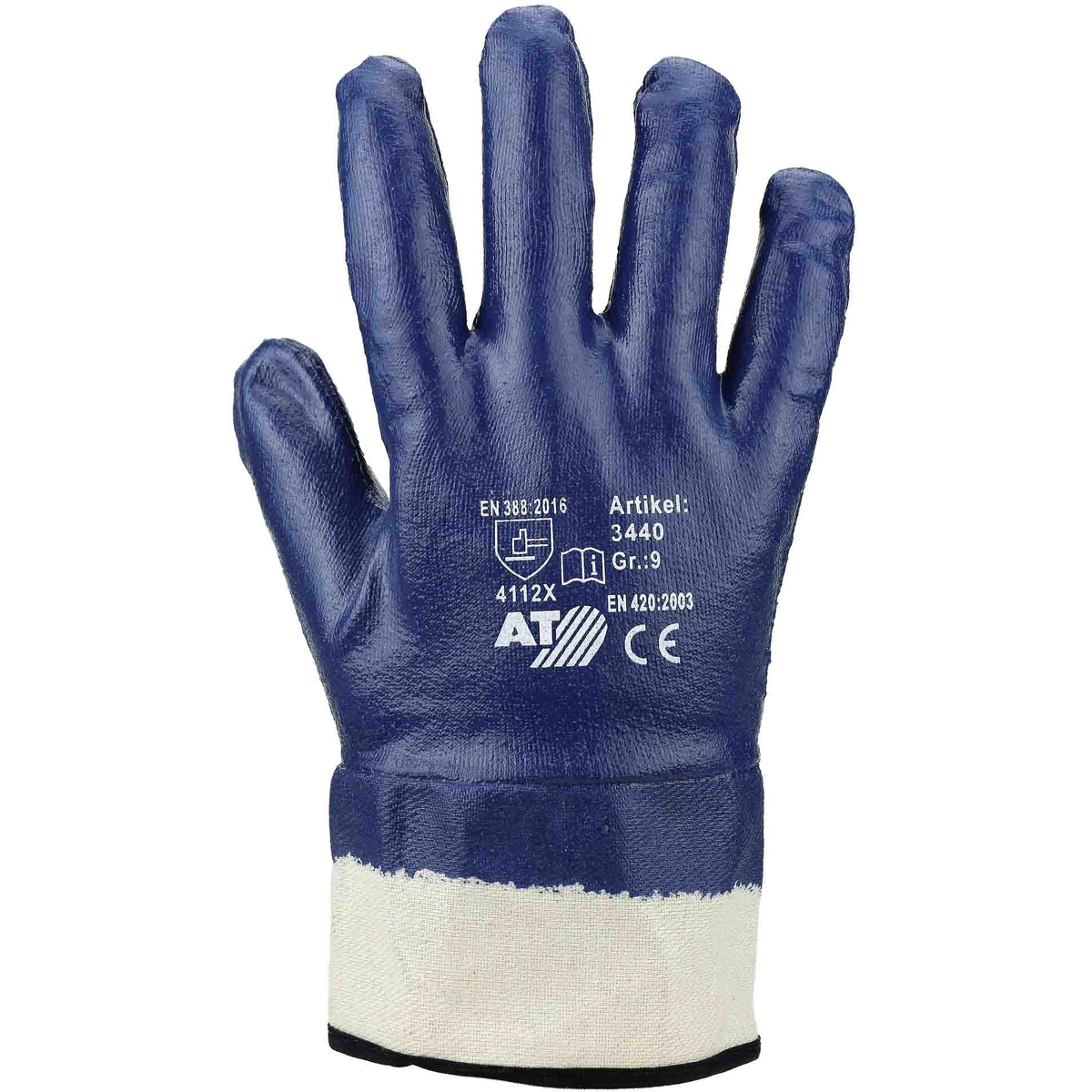 nitril handschuh blau vollbeschichtet stulpe asatex. Black Bedroom Furniture Sets. Home Design Ideas