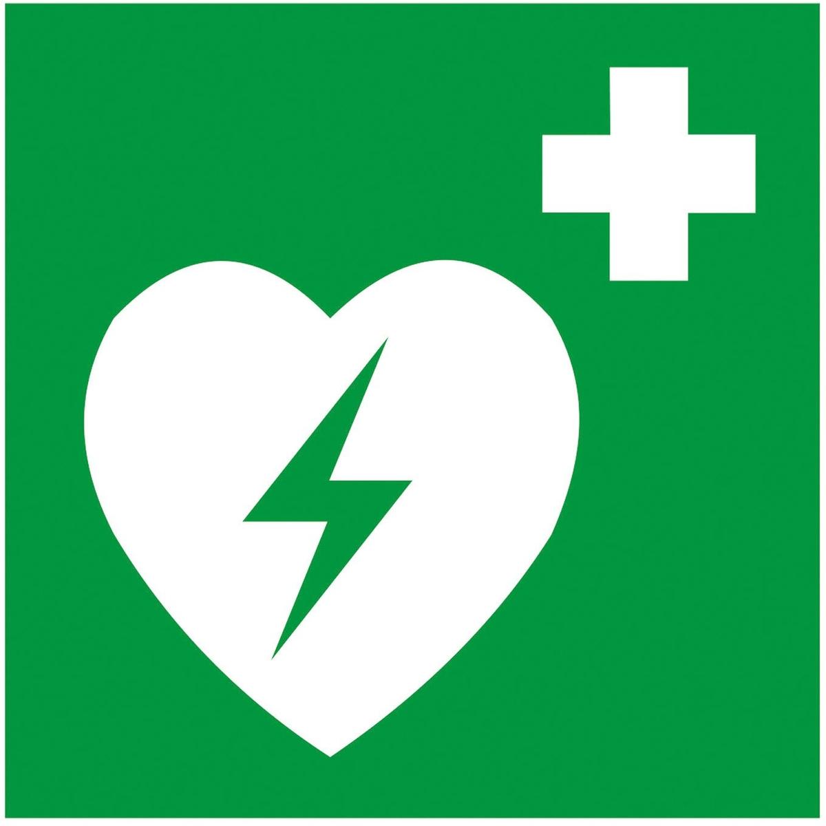 Symbol defibrillator folie selbstklebend 200 x 200 mm for Folie selbstklebend